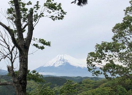 千福城跡からの富士山