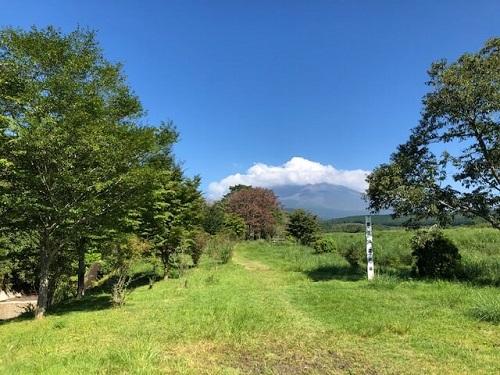 須山登山道入口